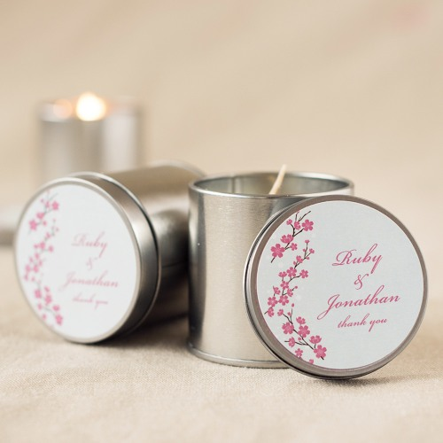 Personalized Bridal Travel Candle Tins