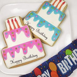 Personalized Birthday Cake Cookies