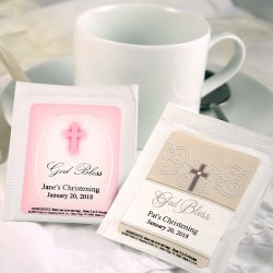Personalized Christening And Baptism Tea Bag Favors