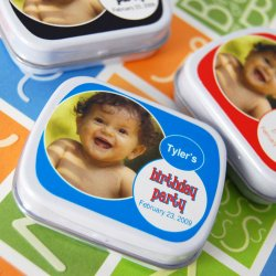 Personalized Birthday Photo Mint Tins