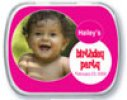 Hot Pink Birthday Photo Mint Tins
