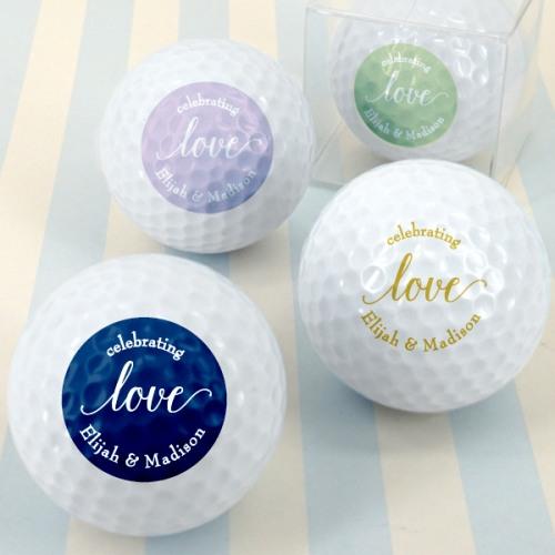 Personalized Love Script Wedding Golf Balls