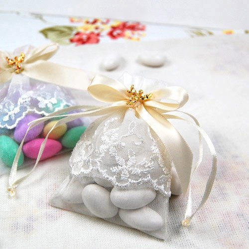 Ivory Angel Pin Favor Bags
