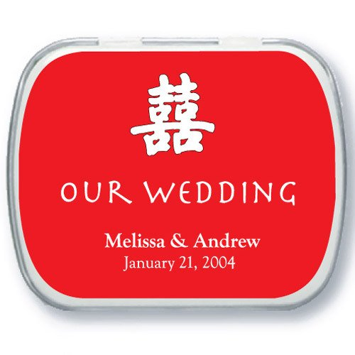 Double Happiness Wedding Mint Tins