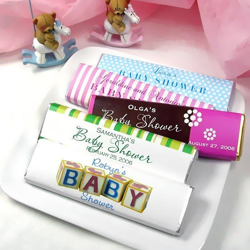 Personalized Baby Shower Chocolate Bars