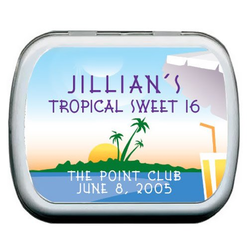 Tropical Paradise Personalized Mint Tin