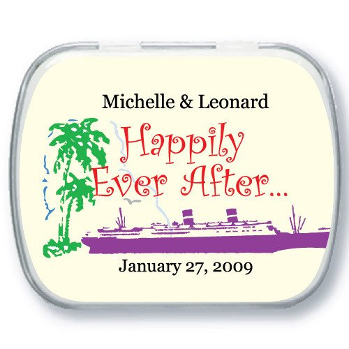 cruise ship customized mint tins destination wedding favors