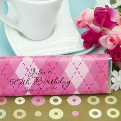 Personalized Birthday Chocolate Candy Bars