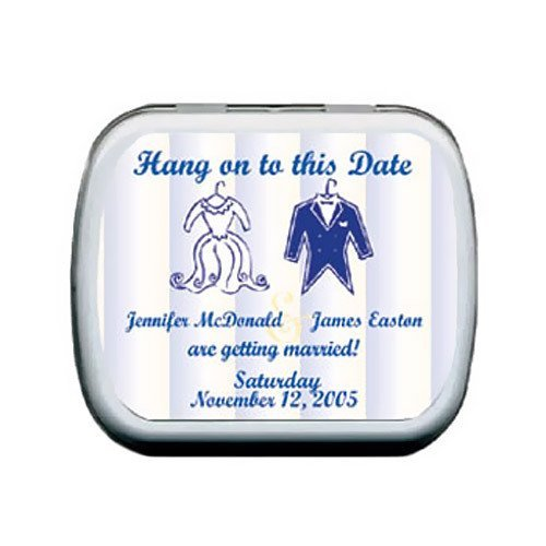 Personalized Save the Date Mint Tins