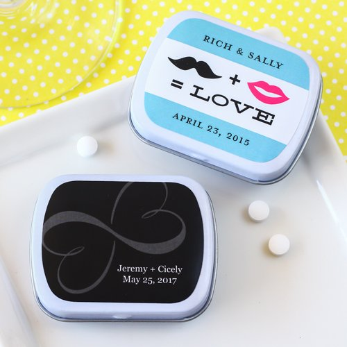 Exclusive Personalized Wedding Mint Tins