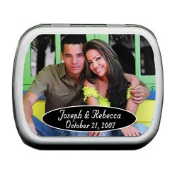 Personalized Photo Wedding Mint Tin Favors