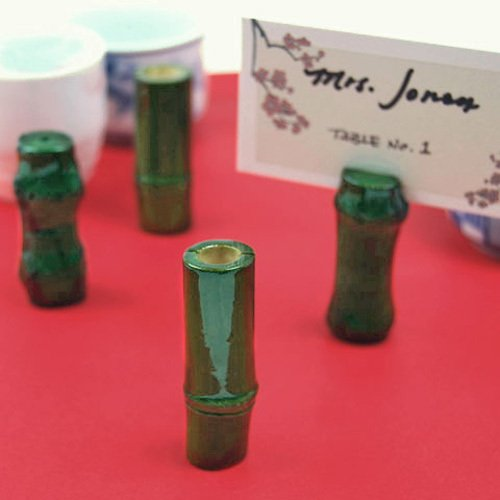 Lucky Bamboo Place Card Holders
