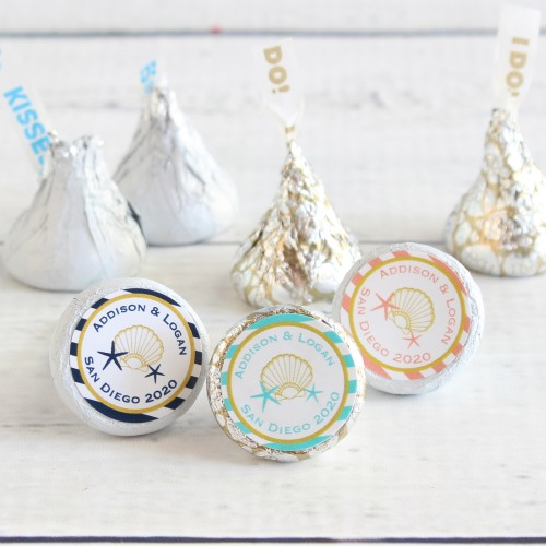 Personalized Seashell Hershey Kisses