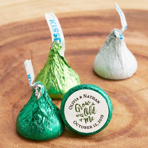 Personalized Wedding Grow Old With Me Hershey's Kisses
