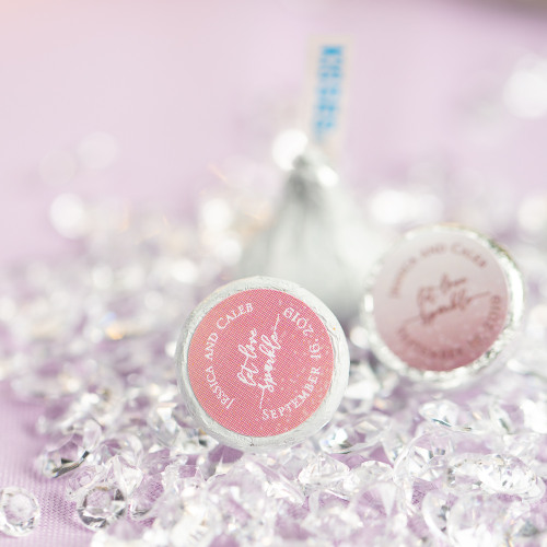 Personalized Let Love Sparkle Wedding Hershey's Kisses
