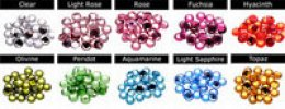Swarovski Crystal Heart Cake Toppers Color Chart
