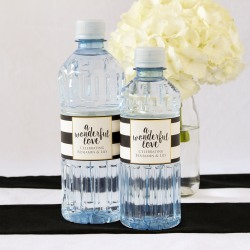Custom Label Bottled Water - Wedding Designs