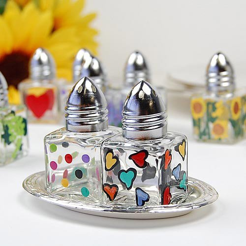 Mini Hand Painted Salt Amp Pepper Shakers Square Salt And