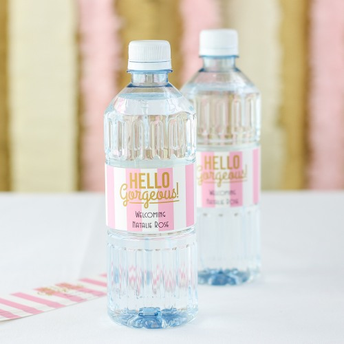 Personalized Baby Shower Bottled Water
