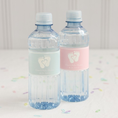 Personalized Baby Feet Bottled Water