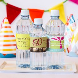Personalized Bottled Water for Birthday Parties, Bar Mitzvahs and Bat Mitzvahs