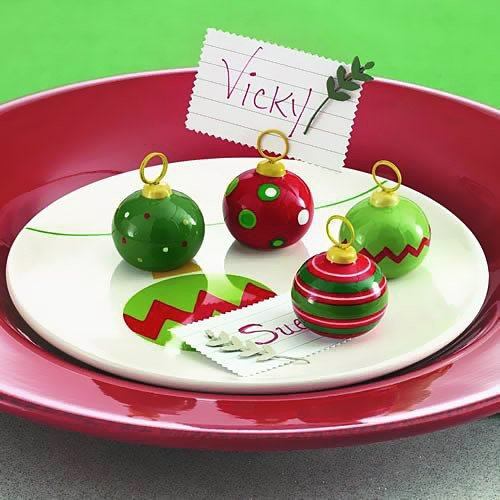 Ceramic Ornaments Place Card Holders