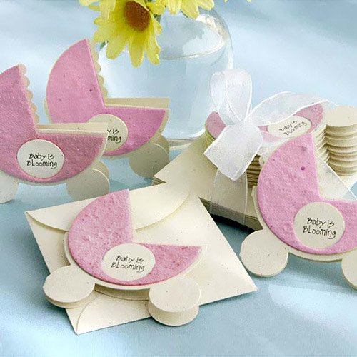 Pink Blooming Baby Plantable Seed Favors