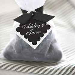 Personalized Diamond Wedding Favor Gift Tags