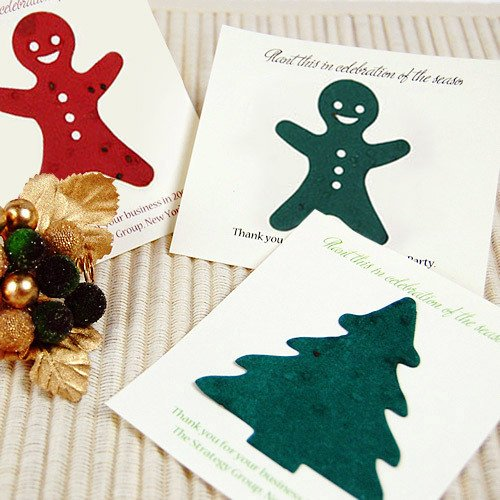 Personalized Holiday Plantable Seed Card Favors