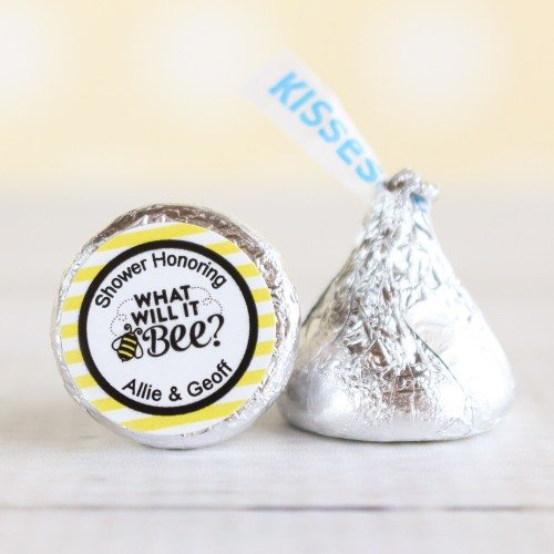 personalized bee reveal Hershey's kisses
