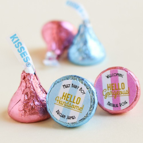 Personalized Baby Shower Hershey's Kisses Foil Colors
