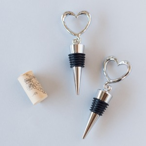 Open Heart Wine Bottle Stoppers