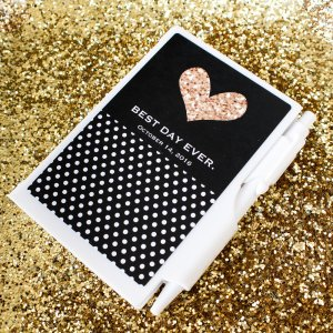 "Personalized ""Love Notes"" Notepad Favors"