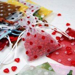 Polka Dots Organza Bags