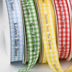 Personalized Gingham Ribbon