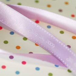 Personalized Satin Dots Ribbon