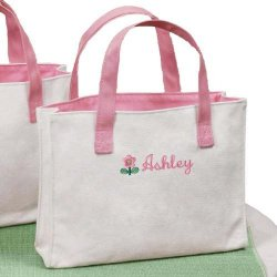 Personalized Mini Flower Totes