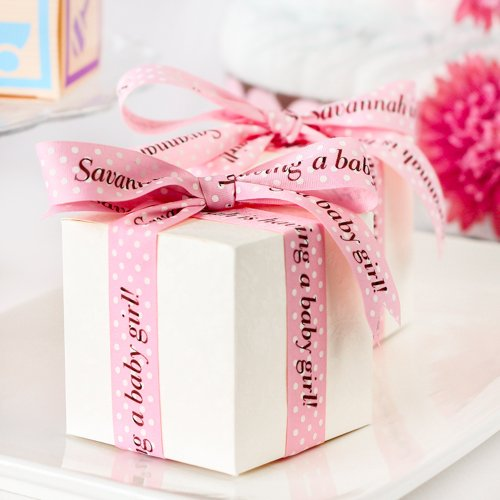 Personalized Pink Polka Dot Ribbons