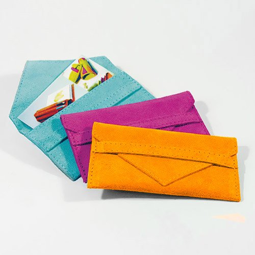 Suede Business Card Holders