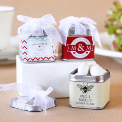 Personalized Square Favor Tins