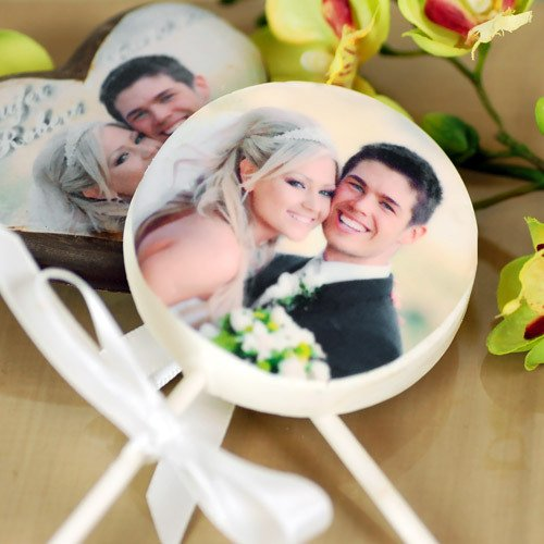 Chocolate Lollipops with Custom Photo