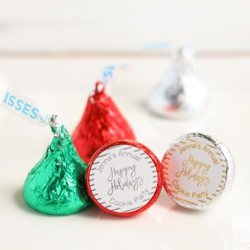 Personalized Holiday Hershey's Kisses