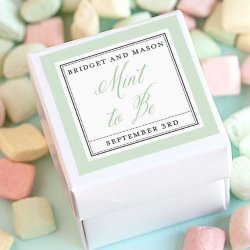 Personalized Square Wedding Labels