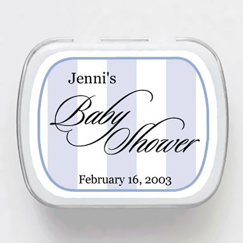 Baby Pinstrips Baby Shower Mint Tins