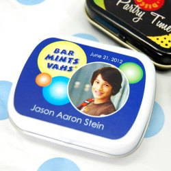 Personalized Bar/Bat Mitzvah Mint Tins