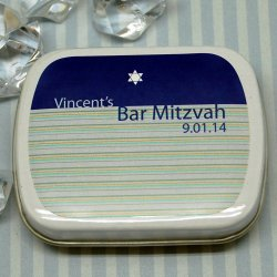Personalized Bar, Bat Mitzvah Party Mint Tins