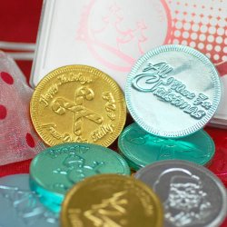 Personalized Holiday Chocolate Coins