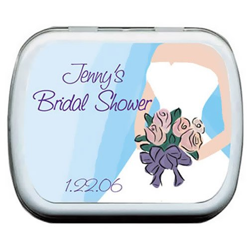 Wedding Dress Bridal Shower Mint Tin