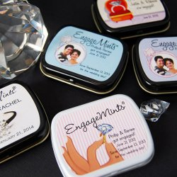 Personalized Engagement Party Mint Tins