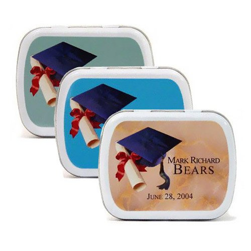 Personalized Party Mint Tins - Graduation Cap Design